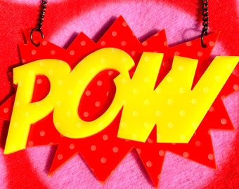 POW statement necklace