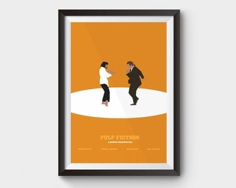 Pulp Fiction - Jack Rabbit Slims - movie poster, art, print, type, typographic print, illustration, film poster, minimalist movie poster