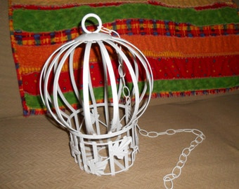 Birdcage Bird Cage Vintage Home Interiors and Gifts, Inc White  Metal