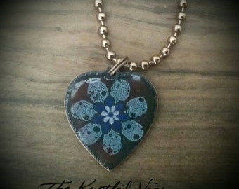 2-Sided Copper Enameled Necklace