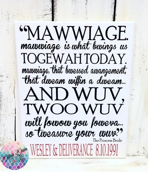 Princess Bride Wedding Quote