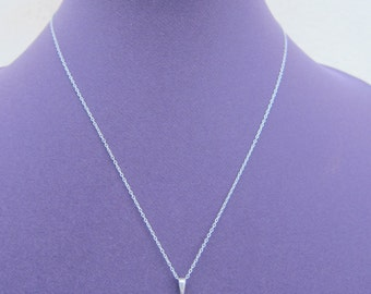 Cute delicate sterling silver etched heart locket on a sterling silver chain