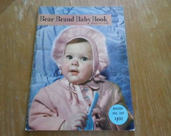 Vintage 1950 Bear Brand Baby Book Vol.339 Infants to 4 Years