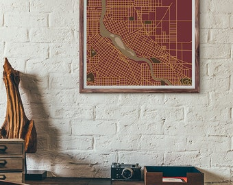 Gophers edition - Minneapolis vintage map print
