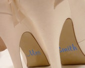 Wedding Shoe  -Personalised Stickers - Special occasion - Nutmeg Stickers -