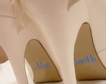 Wedding Shoe Personalised Stickers