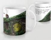 Large Ceramic Mug Fellowship of the Ring Dangerous Business Quote, 11 0r 15 ounce, Coffee or Tea Gift