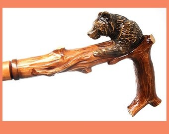 Perfect Hand handmade Carved Wooden Cane Walking Stick (BEST of the BEST)