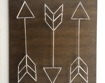 MADE TO ORDER Arrow Trio String Art, Arrow String Art