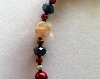 Red, Beige and Black Necklace