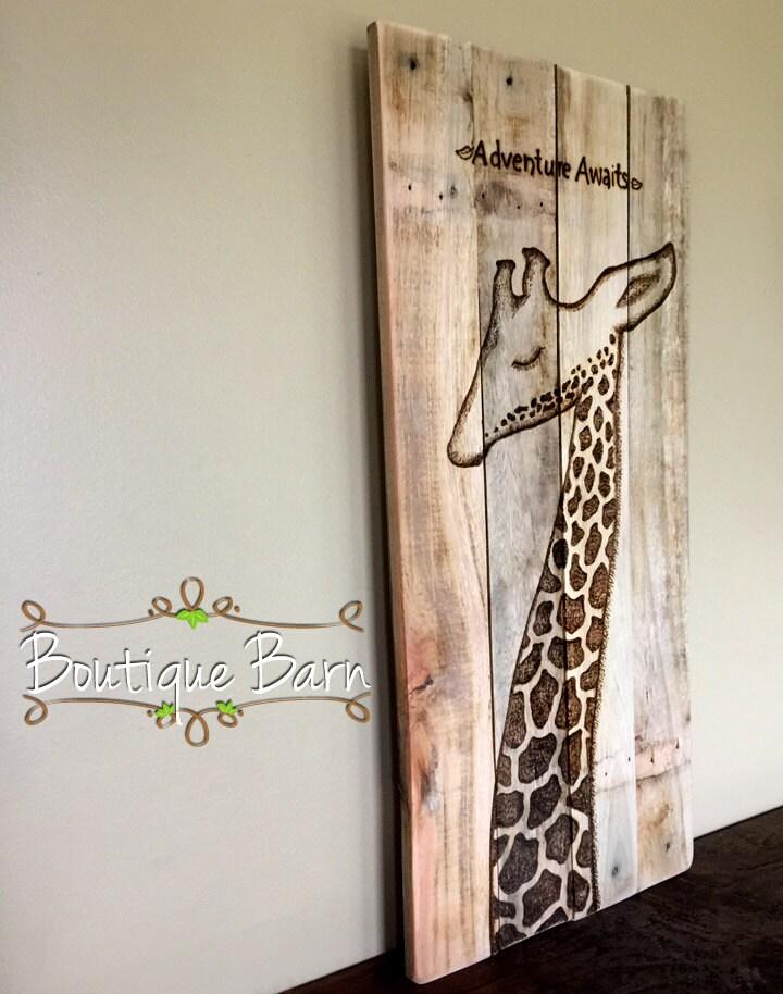 Giraffe Modern Baby Nursery Giraffe Wall Decor Safari Room