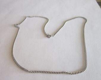 Vtg 16 inch Steel Chain Necklace