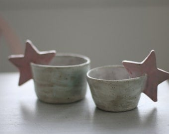Set of 2 Pink Star Cups
