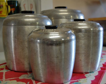 REDUCED!! Vintage MCM Nesting Canisters
