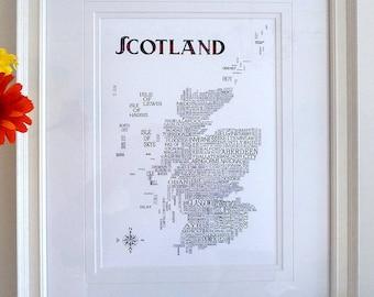 Scottish Word Map