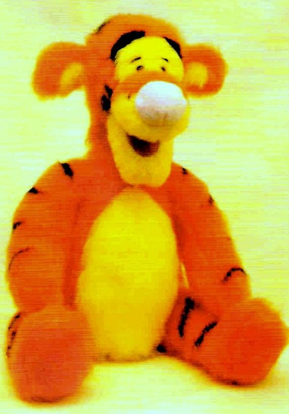 INSTANT DOWNLOAD PDF Vintage Knitting Pattern Tigger from Winnie the Pooh Tig...