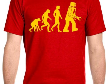 Big Bang Theory Sheldon Cooper Robot Evolution T-Shirt