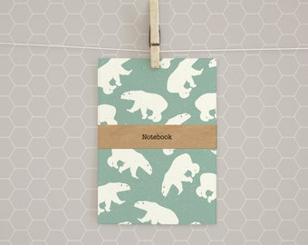 Polar Bear A5 Notebook - gift / lined / journal / bear / Christmas / present / planner