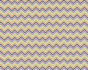 Purple, black, green, orange and white mini chevron craft  vinyl sheet - HTV or Adhesive Vinyl -  zig zag Halloween pattern HTV1563