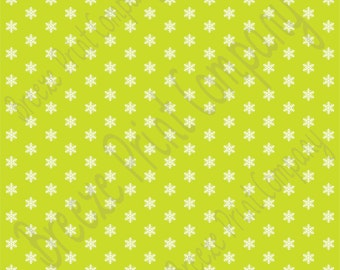 Lime snowflake craft  vinyl sheet - HTV or Adhesive Vinyl -  winter pattern HTV1356