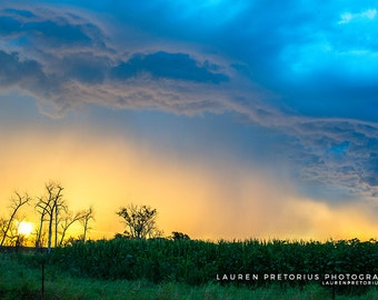 Stormy Sunset, Landscape Photography, Archival Giclee Print, Nature Photo - Multiple Sizes Available