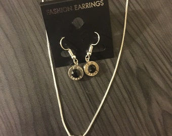 Special Bullet Jewelry Set With Earrings and Necklace