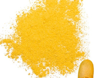 Chroma Yellow Mica Powder for Makeup, Eyeshadow, Nail Polish, Soap Making