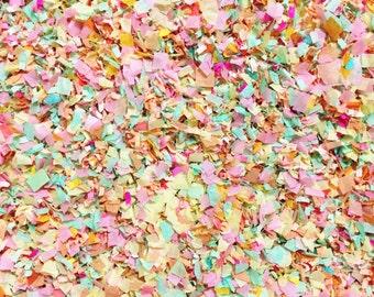 Peach Mint Pink Ivory Confetti Biodegradable Flower Girl Basket Wedding Aisle Decoration InsideMyNest (25 Guests)