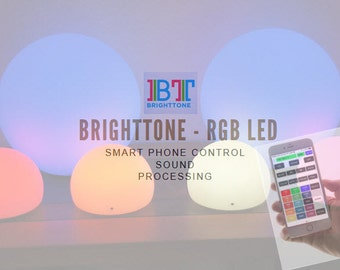"Smart Audio Processing RGB LED Lamp with iPhone and Android control 6"" WiFi"
