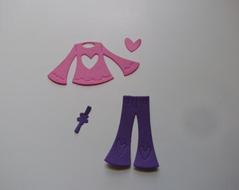 retro outfit die cuts