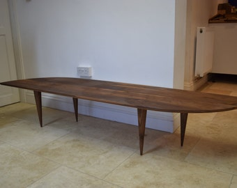 Retro walnut coffee table