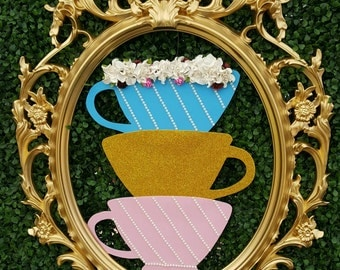 Teaparty/alice in wonderland/ party decoration/ wall art/ room decor