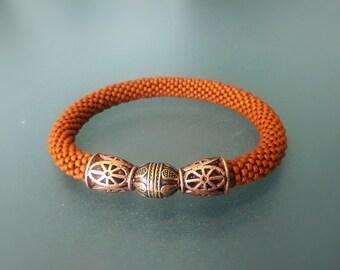 """Bead Crochet Bracelet """"Osen"""" (Elegant Bracelet, Beaded Bracelet)"""