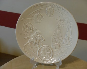 Frankoma Bi-Centennial Celebration Provocations Plate (1972)