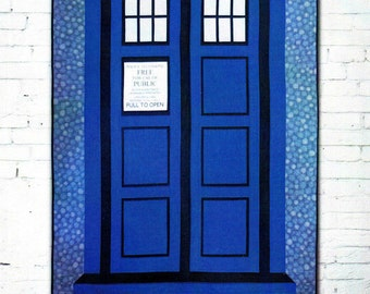 RELATIVELY DIMENSIONAL - Dr. Who Quilt Pattern - Tardis Call Box    By: Hunter's Design Studio