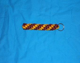 Maroon and Goldenrod Paracord Key Chain