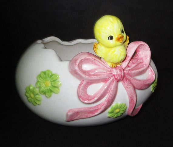 Lefton Easter Egg Planter/Candy Dish