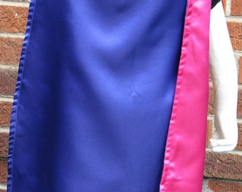 Pink and Purple Reversible Cape
