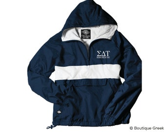 SDT Sigma Delta Tau Classic Letters Anorak Jacket