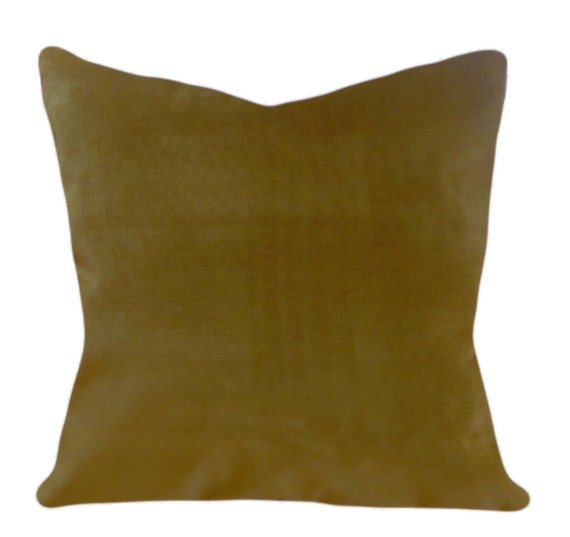 Olive Green Decorative Pillow : Green Velvet Olive Decorative Pillow Cover by PillowTimeGirls