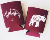 University of Alabama Hand-lettered Can Cooler