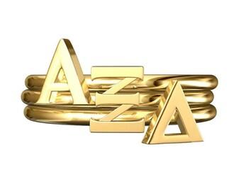 Alpha Xi Delta Sorority Stack Rings / Sorority Rings / Big Little Gifts / Sorority Jewelry / Sorority Stack Rings / Stackable Rings