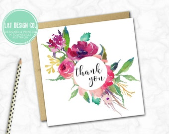 Thank You Card {FLORAL BOUQUET}