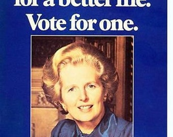 1979 Conservative Party Vote For Margaret Thatcher Election Poster A3 Reprint
