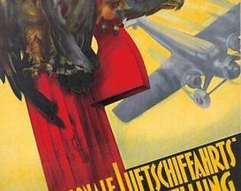 Vintage 1935 German Airshow Poster A3 Print