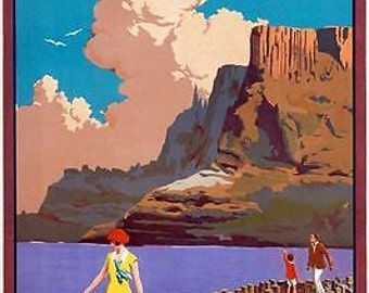 Vintage Ulster Northern ireland Tourism Poster 2 A3 Print