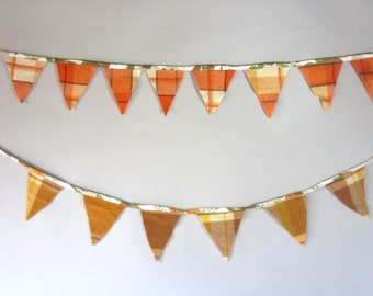 Retro Wool and Vintage Sheet Bunting Flags