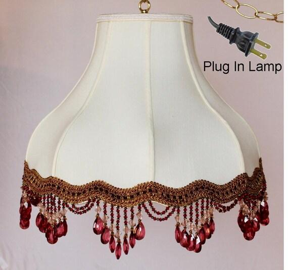 antique vintage victorian umbrella bell plug in swag lamp. Black Bedroom Furniture Sets. Home Design Ideas