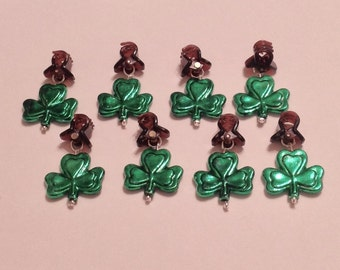 Beard Art Baubles St Patrick's Day Shamrock Luck Irish Handmade Baubles Mini Clips