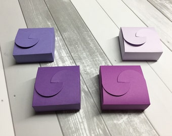 Purple Favor Boxes Purple Favors Purple Wedding Favor Boxes Purple Favor Box Purple Favour Boxes Favour Box